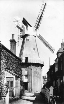 Union Mill, Cranbrook, From entry road, side-on view of fantail