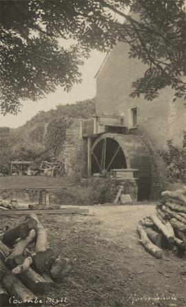 End of mill with iron waterwheel and light rail truck, Stow Mill, Morwenstow