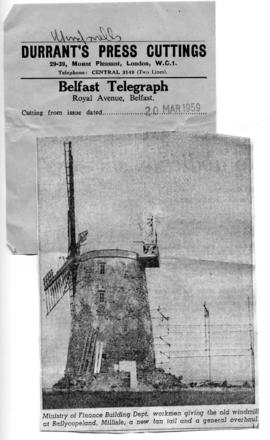 """Repairs to old windmill"""