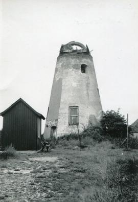 Tower mill, East Wittering, derelict