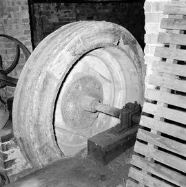 Detail of belt drive wheel, Hyde Farm Wheel, Bere Regis