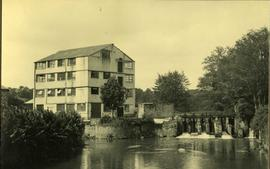 View across water, watermill, Iping