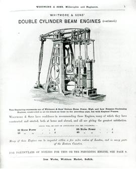 Double Cylinder Beam Engines Advertisement 2