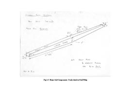 Major Sail Components: early sketch of sail whip