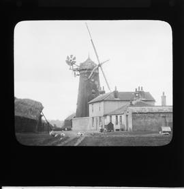 Wray Common Mill, Reigate, with one sail bent