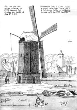 Dutch smock mill