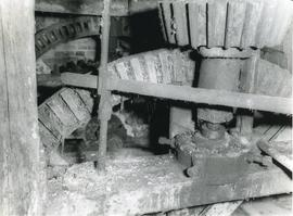Close-up of Pit Wheel and Wallower, watermill, Kersey
