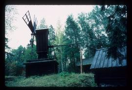 Preserved hollow-post(?) Mill on small wooden building - Baltic region