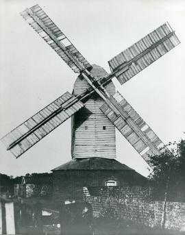 Upthorpe Road Mill, Stanton, with prominent sails