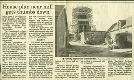 """House plan near mill gets thumbs down"""