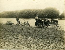 Ploughing at Goodnestone Park with Overtime tractor