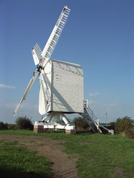 Completed rebuilding, post mill, Chillenden