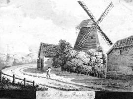 Mill with house, barn and tramp
