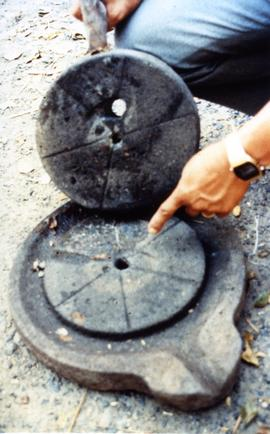 Photograph of a quern, Philippines
