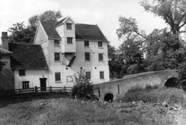 View from downstream, watermill, Baylham