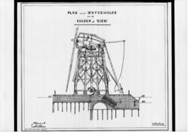 Dutch drainage smock mill in section