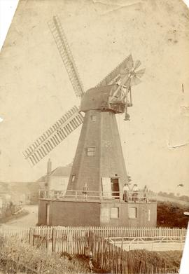 Star Mill, Chatham, with people standing on the stage