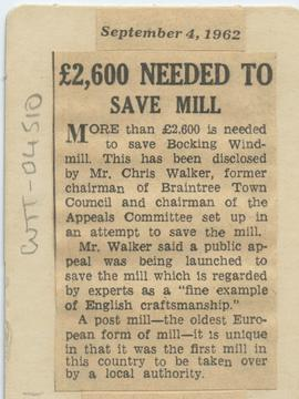 £2,600 needed to save mill""