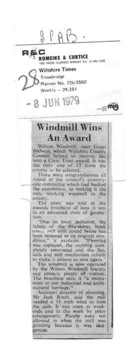 """Windmill wins an award"""