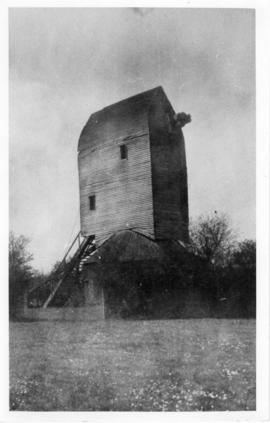 Derelict post mill without sails