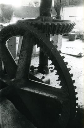 Photograph of the drive gear, Vuillafans watermill, France