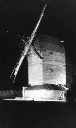 Post mill, Keston, floodlit for the Silver Jubilee