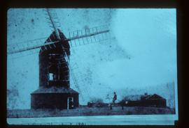Gosden Windmill, Lower Beeding, derelict, with sails
