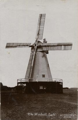 Postcard of windmill in Lydd
