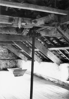 Roof with drive gearing, Abberwick Mill, Bolton