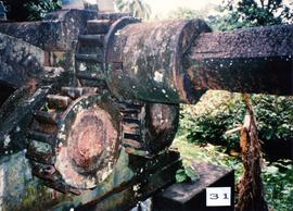 Photograph of the horizontal three-roll crusher drive at Farm Mill, St Vincent