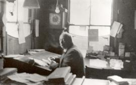 Edwin French in his office