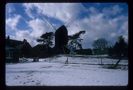 Snow scene, Reigate Heath Mill, Reigate