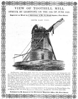 Mill struck by lightning