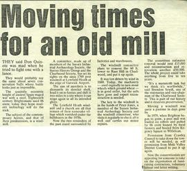 """Moving times for an old mill"""