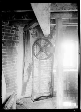 Sack hoist inside a tower mill