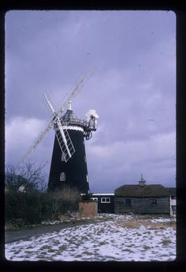 Snow scene, Wray Common Mill, Reigate