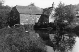 View from upstream, watermill, Sutton Mandeville