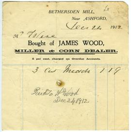 Billhead of James Wood, Bethersden