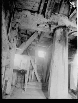Interior of post mill, Bourn