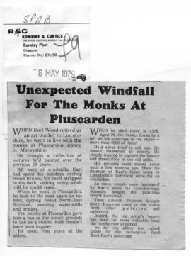 """Unexpected windfall for the monks at Pluscarden"""