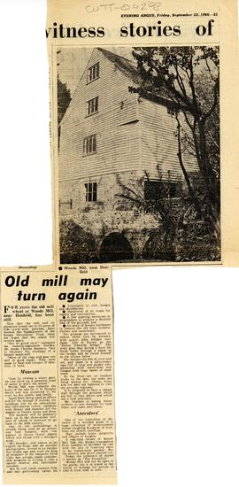 """Old mill may turn again"""