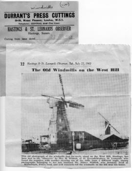"""The old windmills on the West Hill"""