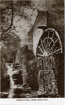 Watermill, Ramsdale, and wheel, with mill stream