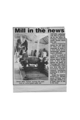 """Mill in the news"""