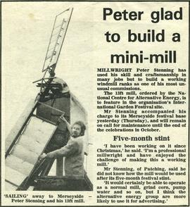 """Peter glad to build a mini-mill"""