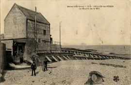 Veules-Les-Roses - view of tide mill and sea