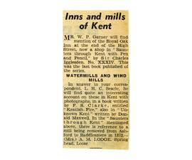 """Inns and mills of Kent"""