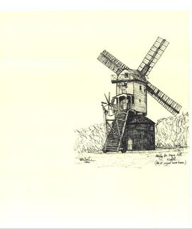Freehand sketch of Ashby St Mary mill
