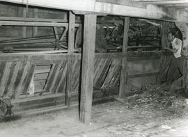 Interior, Machinery and Person, watermill, Kersey