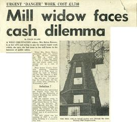 """Mill widow faces cash dilemma"""